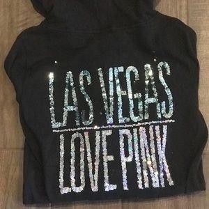 Victoria Secret PINK sequin zip hoodie.